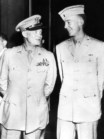 General Dwight Eisenhower Smiles at His Son, First Lieutenant John Sheldon Eisenhower