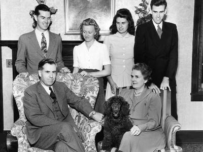 Vice Presidential Nominee Henry Wallace with His Family in Des Moines, Iowa