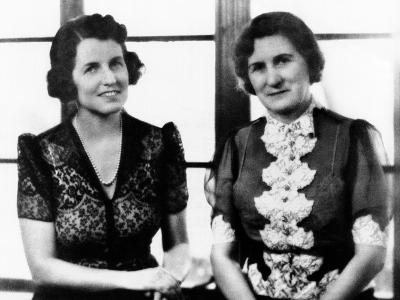 Rose Fitzgerald Kennedy with Her Mother, Josephine Fitzgerald, ca 1930