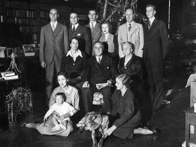 Franklin Roosevelt Family on Christmas Day, 1932