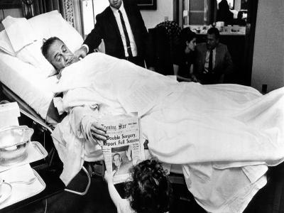 President Lyndon Johnson after Gall Bladder Surgery
