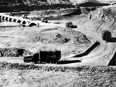 Truck Convoy in Iran Carrying War Supplies to Russia