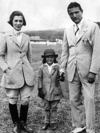 Jacqueline Kennedy, with Her Parents, Janet and John V Bouvier