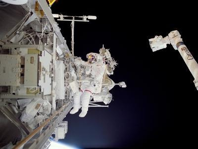 Construction Work on International Space Station