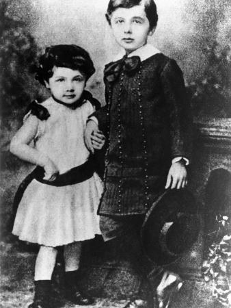 Albert Einstein, About Five Years Old, with His Younger Sister Maja, ca 1885