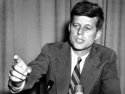 Sen John Kennedy after Making a Foreign Policy Speech in the Senate
