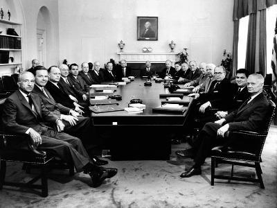 President Eisenhower Poses with His Second Term Cabinet