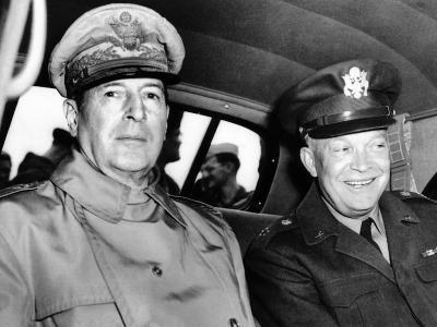 Chief of Staff General Dwight Eisenhower Meets General Douglas MacArthur in Japan, May 10, 1946