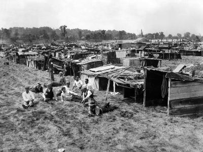 Encampment of the Bonus Army Marchers in Washington DC