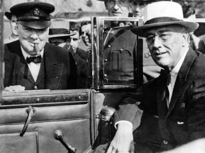 'Victory Is Everywhere,' Said Winston Churchill as He Greeted President Franklin Roosevelt