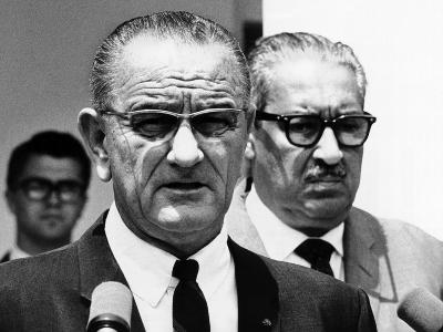President Lyndon Johnson with Supreme Court Nominee, Thurgood Marshall
