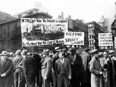 Communists with Signs in Union Square on May Day, 1931