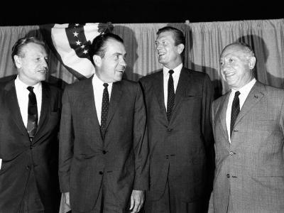 GOP Presidential Candidate Richard Nixon Joins New York's Top Republicans