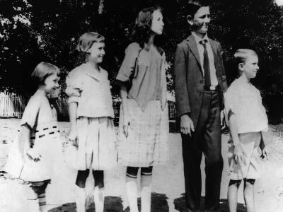 President Lyndon Johnson in an Old Family Photo with His Siblings