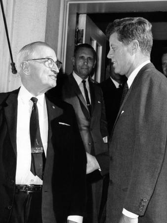 President Kennedy with White House Visitor, Former President Harry Truman, June 13, 1963