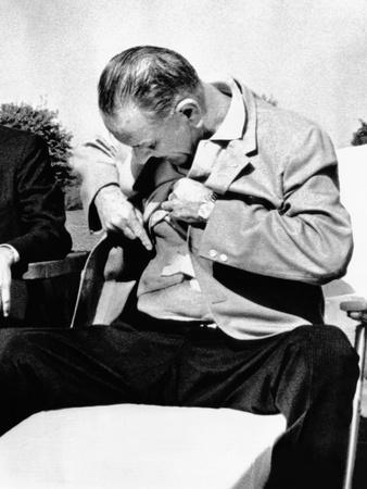 President Lyndon Johnson Shows the Press His Gall Bladder Surgery Scars