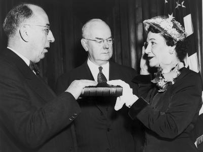 Maybelle Kennedy Being Sworn in as Assistant Treasurer of the United States in 1952
