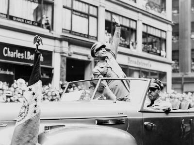 General Dwight Eisenhower Waves to Cheering New York Crowds, June 19, 1945