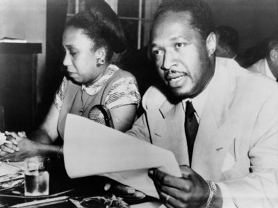 Josh White with His Wife before the House Un-American Activities Committee in 1950