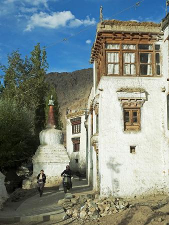 Man with Stupa, Leh, Ladakh, India