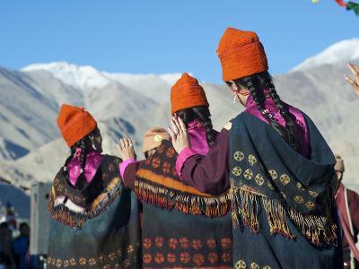 Tibetan Ceremony in Shanti Stupa, Leh, Ladakh, India