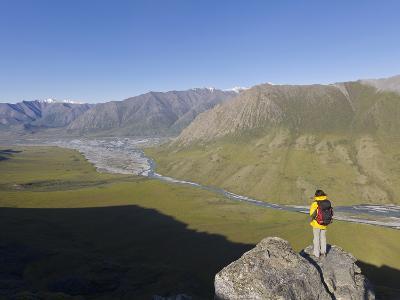 Hiker, Arctic National Park and Preserve, Alaska, USA