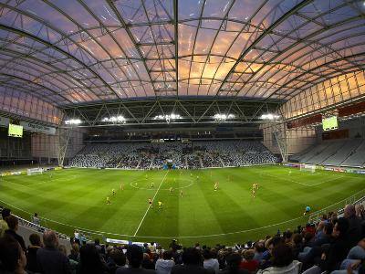 Football Game, Forsyth Barr Stadium, Dunedin, South Island, New Zealand - Fisheye