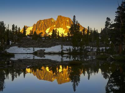 Mount Ritter Reflected in the Clark Lakes, Ansel Adams Wilderness, California, USA