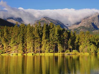 Reflections on Sprague Lake, Rocky Mountain National Park, Colorado, USA