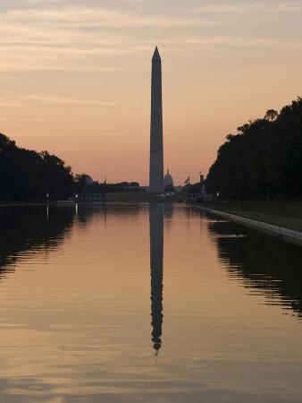 The Reflecting Pool on the National Mall, Washington DC, USA, District of Columbia