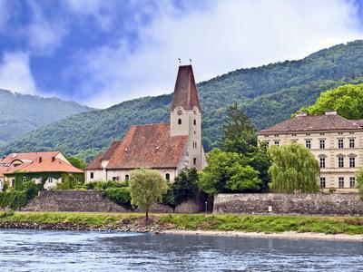 The Danube River and the Village of Weissenkirchen, Wachau Lower Austria
