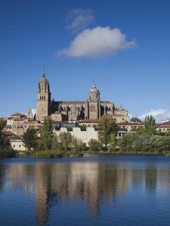 View from the Tormes River, Salamanca, Spain