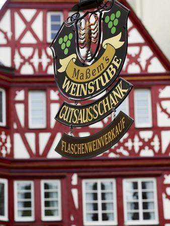 A Traditional Sign for a Wine Tavern or Bar in Bernkastel-Kues, Germany