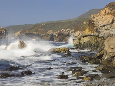 Foam Thrown in Air When Hitting Rocks, Garrapata State Park, Entrance No.7, California, USA
