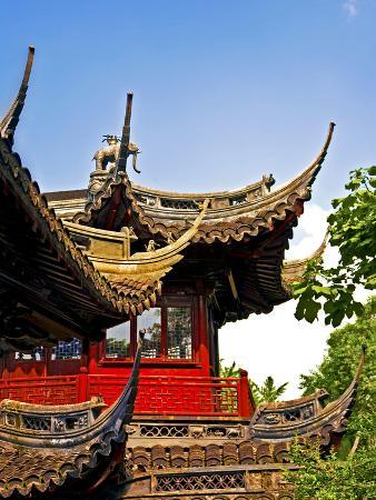 Pagoda at Yuyuan Garden, Old Town, Shanghai, China