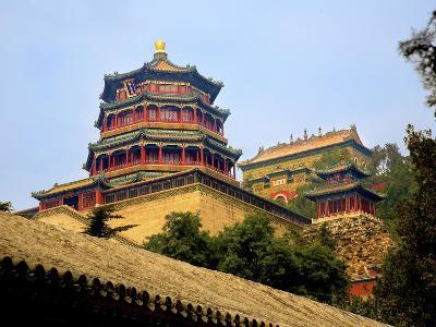 The Pavilion of Buddhist Fragrance, at the Summer Palace, Beijing, China