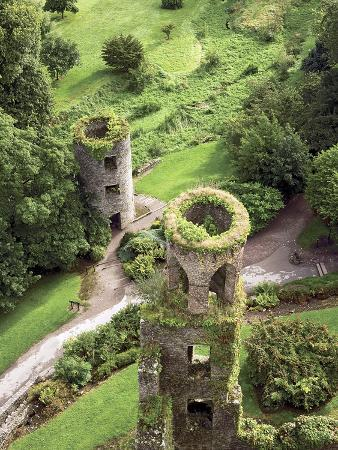 High Angle View of Towers, Blarney Castle, County Cork, Ireland