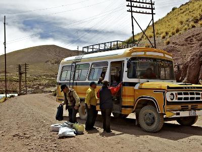 Bus Stop, Pulacayo, Bolivia, South America