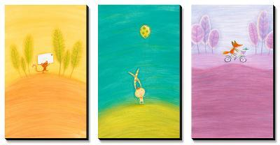 Crossing Critters Triptych