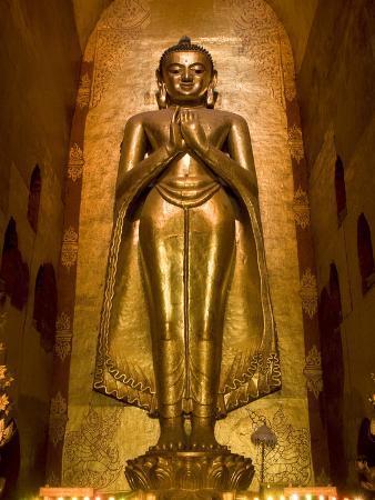 South Facing Buddha Statue, Ananda Pahto, Bagan (Pagan), Myanmar (Burma), Asia