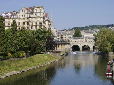 Pulteney Bridge and River Avon, Bath, UNESCO World Heritage Site, Avon, England, UK, Europe