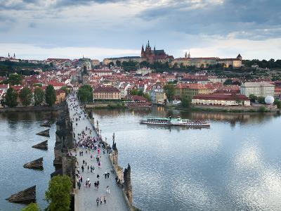 St Vitus Cathedral, Charles Bridge, River Vltava, UNESCO World Heritage Site, Prague Czech Republic