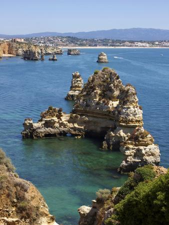 Cliffs Near Praia Dona Ana, Lagos, Algarve, Portugal, Europe