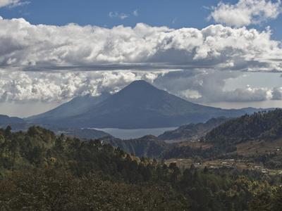 Atitlan Lake and Volcano, Guatemala, Central America