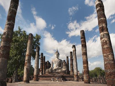 Wat Mahathat, Old Buddhist Temple, Sukhothai, UNESCO World Heritage Site, Thailand, Southeast Asia
