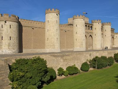 Fortified Walls and Towers of Aljaferia Palace from 11th Century, Saragossa (Zaragoza), Spain