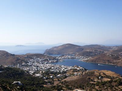 View from the Monastery of St. John the Evangelist, Patmos, Dodecanese, Greek Islands, Greece