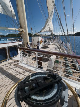 Star Clipper Sailing Cruise Ship, Terre de Haut, Guadeloupe, West Indies, French Caribbean