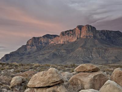 Guadalupe Peak and El Capitan at Sunset, Guadalupe Mountains National Park, Texas, USA