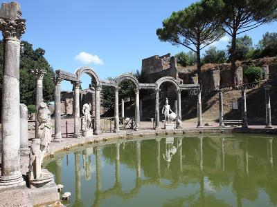 Hadrian's Villa, Canopus Canal, UNESCO World Heritage Site, Tivoli, Rome, Lazio, Italy, Europe